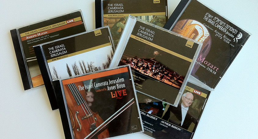 CDs recorded by the Israel Camerata Jerusalem