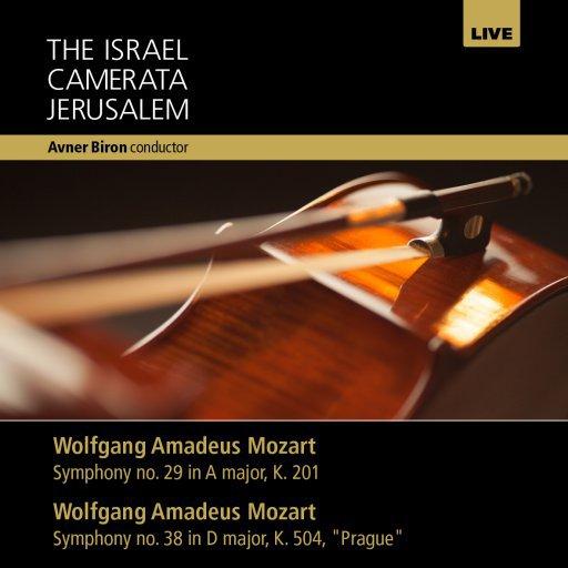 Camerata CD cover - Mozart - Symphonies 29 & 38